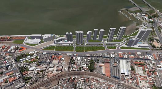 Prefeitura de Recife aprova novo plano urbano para o Cais José Estelita, Projeto Novo Recife - Redesenho. Image via Diario de Pernambuco