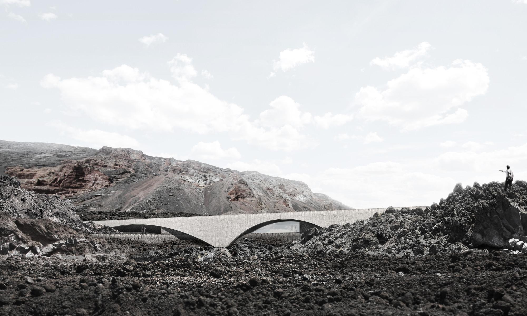 XLII, propuesta finalista en concurso de ideas para el nuevo balneario de la Fuente Santa / España, Cortesia de Equipo Finalista