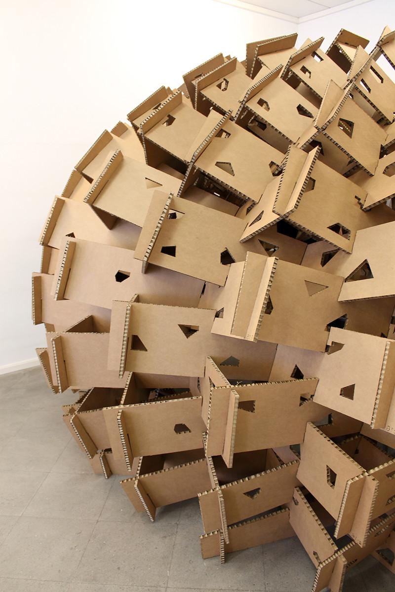 galer a de pa s vasco estudiantes construyen pabell n de cart n en base al dise o param trico 3. Black Bedroom Furniture Sets. Home Design Ideas