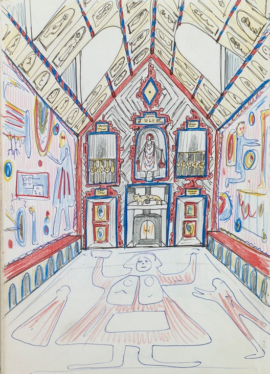 Grayson Perry's preliminary sketch for A House For Essex (2012). Image © Grayson Perry (courtesy Victoria Miro, London)