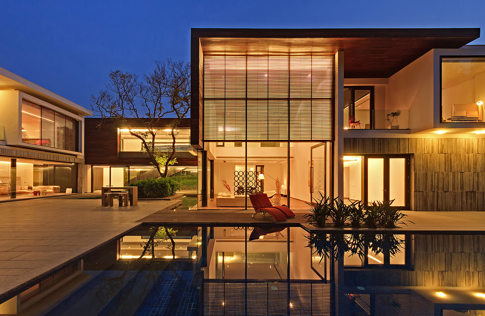Galer a de la casa de los tres rboles dada partners 9 for Maison de design arkitek