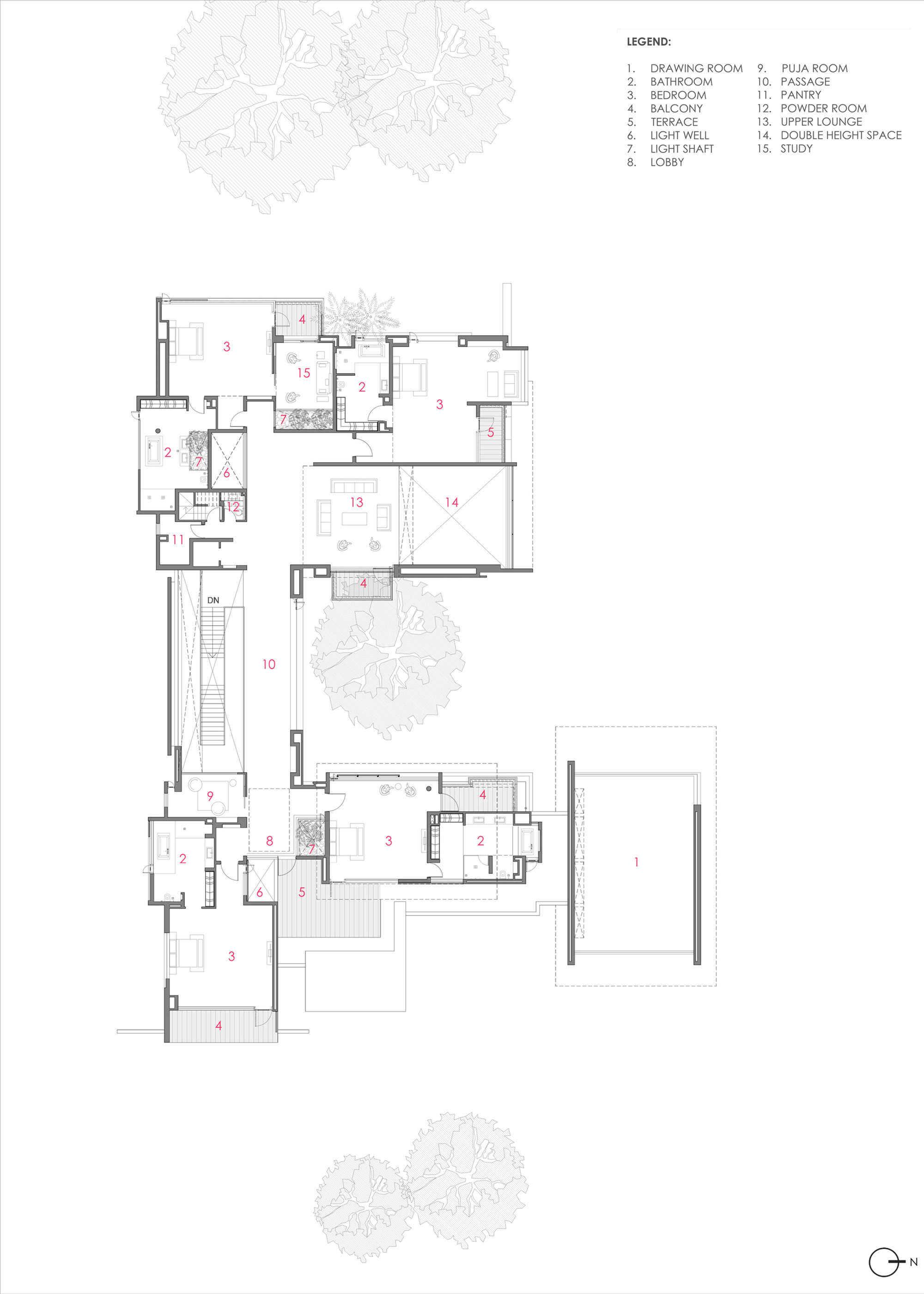 Gallery Of Three Trees House Dada Amp Partners 23