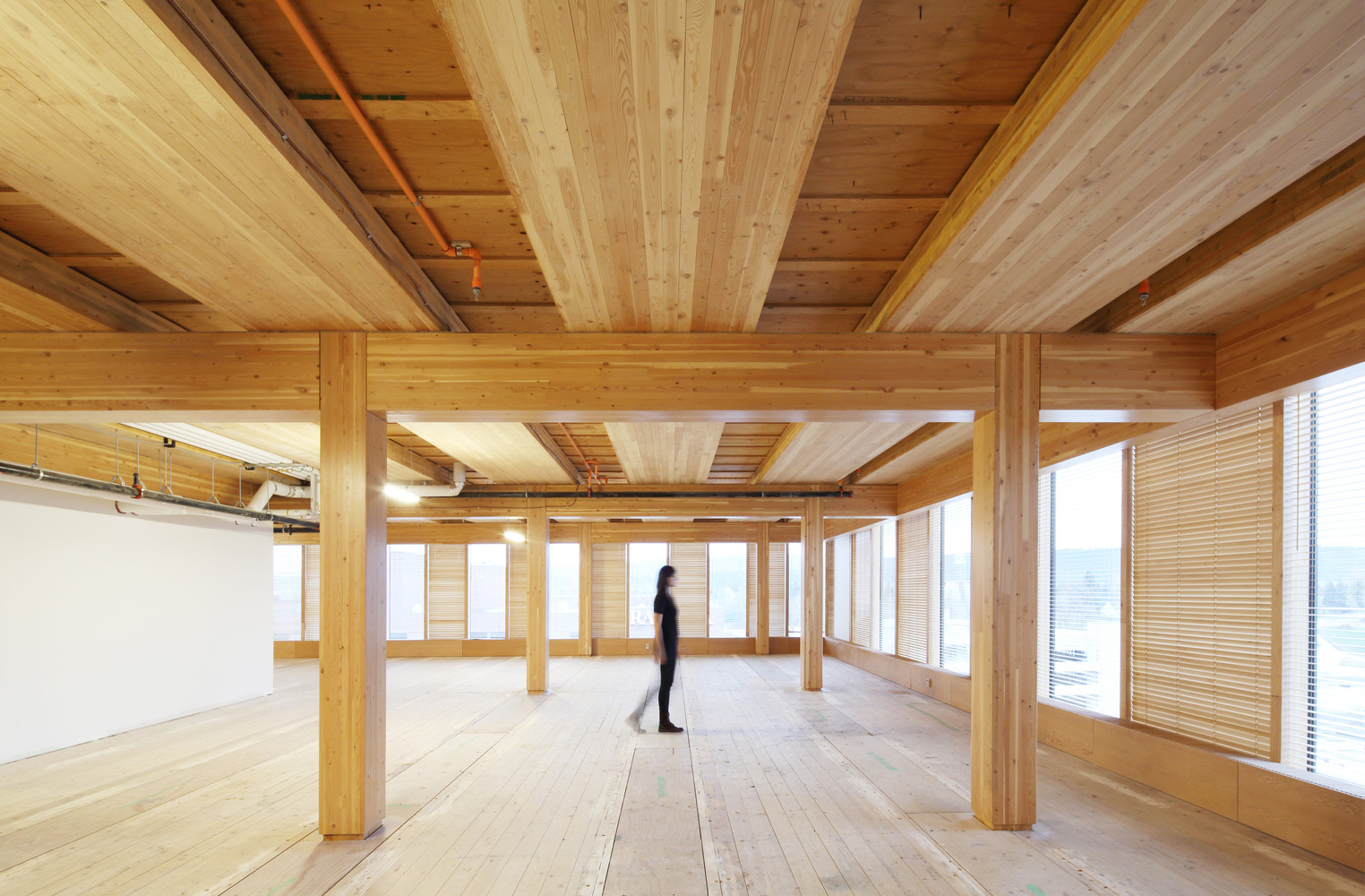 wood innovation design centre ema peter - Innovative Wood Beam Ceiling