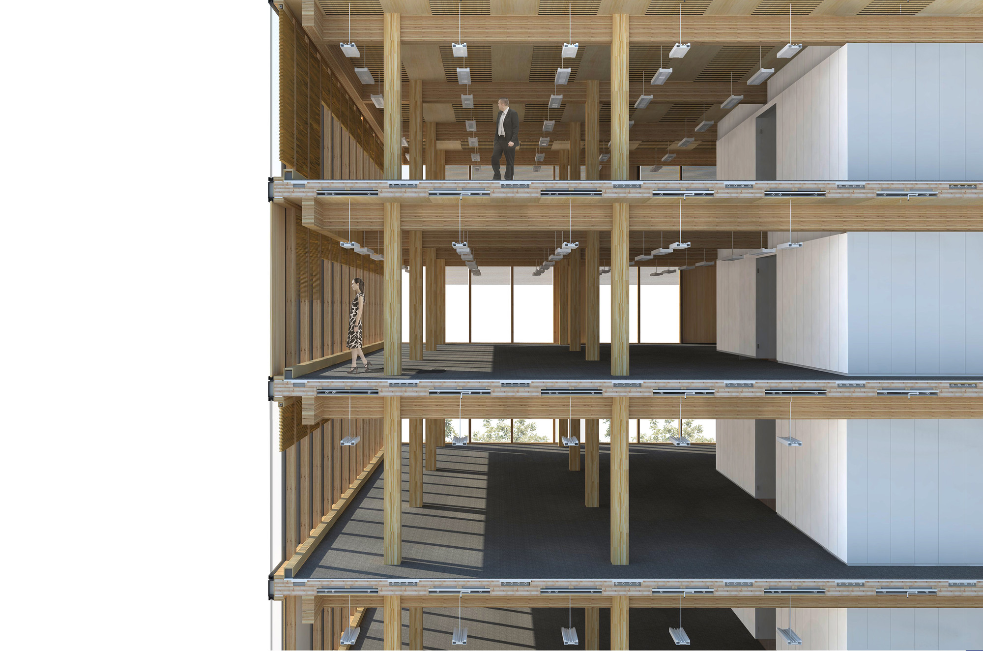 Wood Construction Section ~ Gallery of wood innovation design centre michael green
