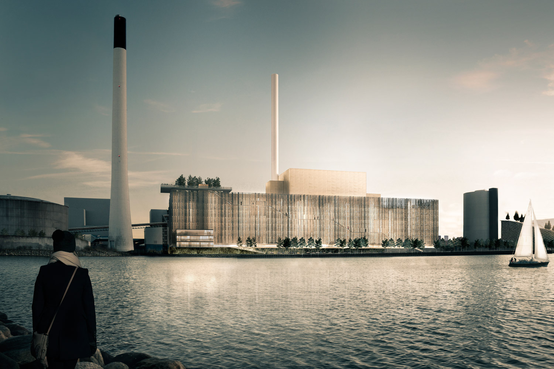 Gottlieb Paludan Architects Design a Forest-Inspired Biomass Unit for Copenhagen, Courtesy of Gottlieb Paludan Architects