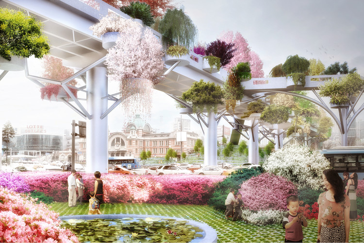 MVRDV to Transform Abandoned Highway in Seoul into Lush Skygarden, © MVRDV
