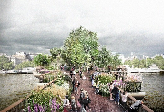 Heatherwick's Garden Bridge to Represent London's Horticultural History, © Garden Bridge Trust