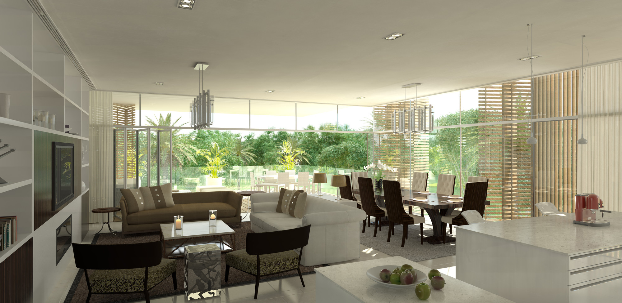 10 DESIGN's Ashjar at Al Barari residential project. Image Courtesy of 10  DESIGN