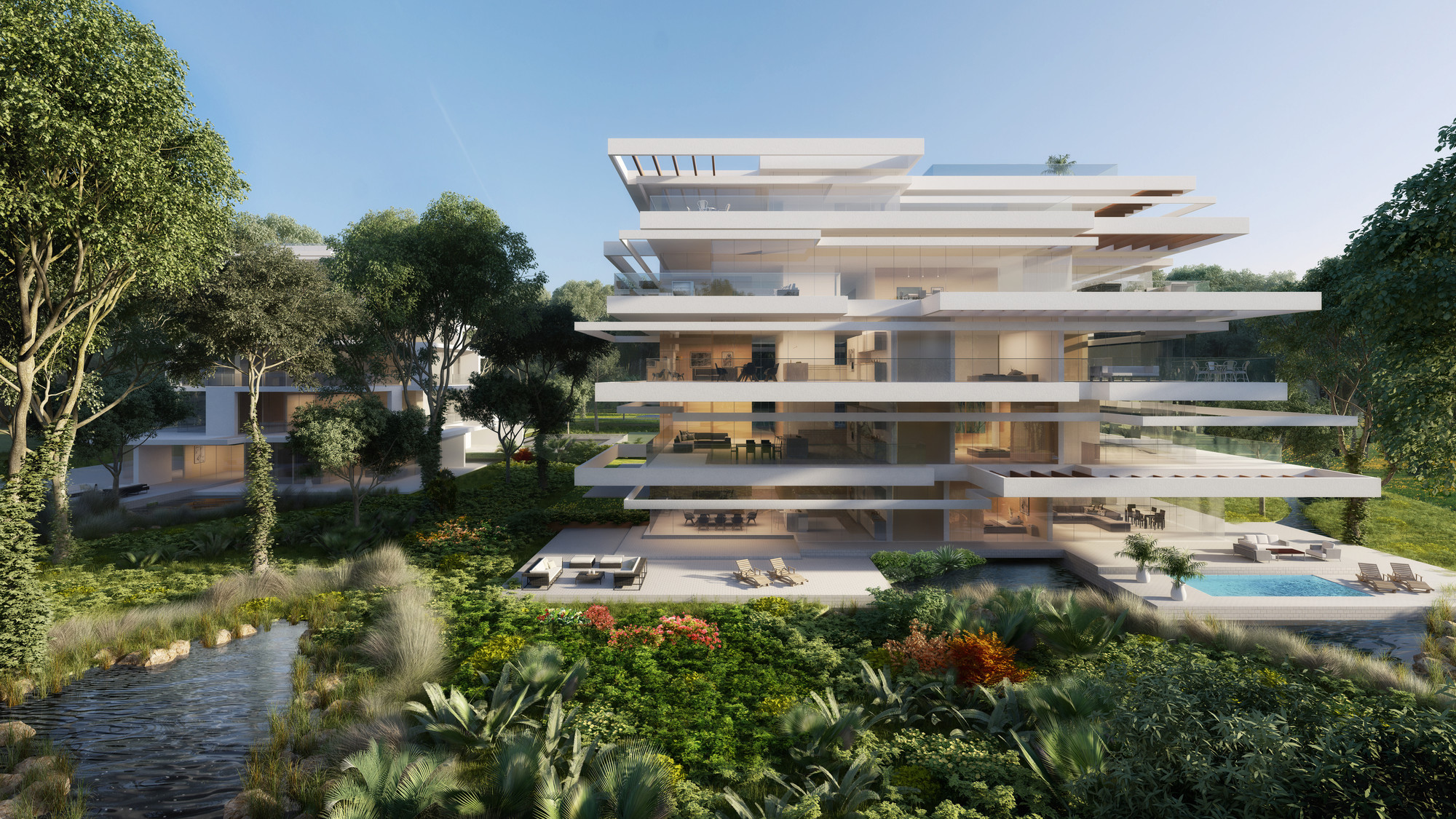 Taking Daylight to the Next Level: How Daylighting Analysis is Changing Design, 10 DESIGN's Ashjar at Al Barari residential project. Image Courtesy of 10 DESIGN