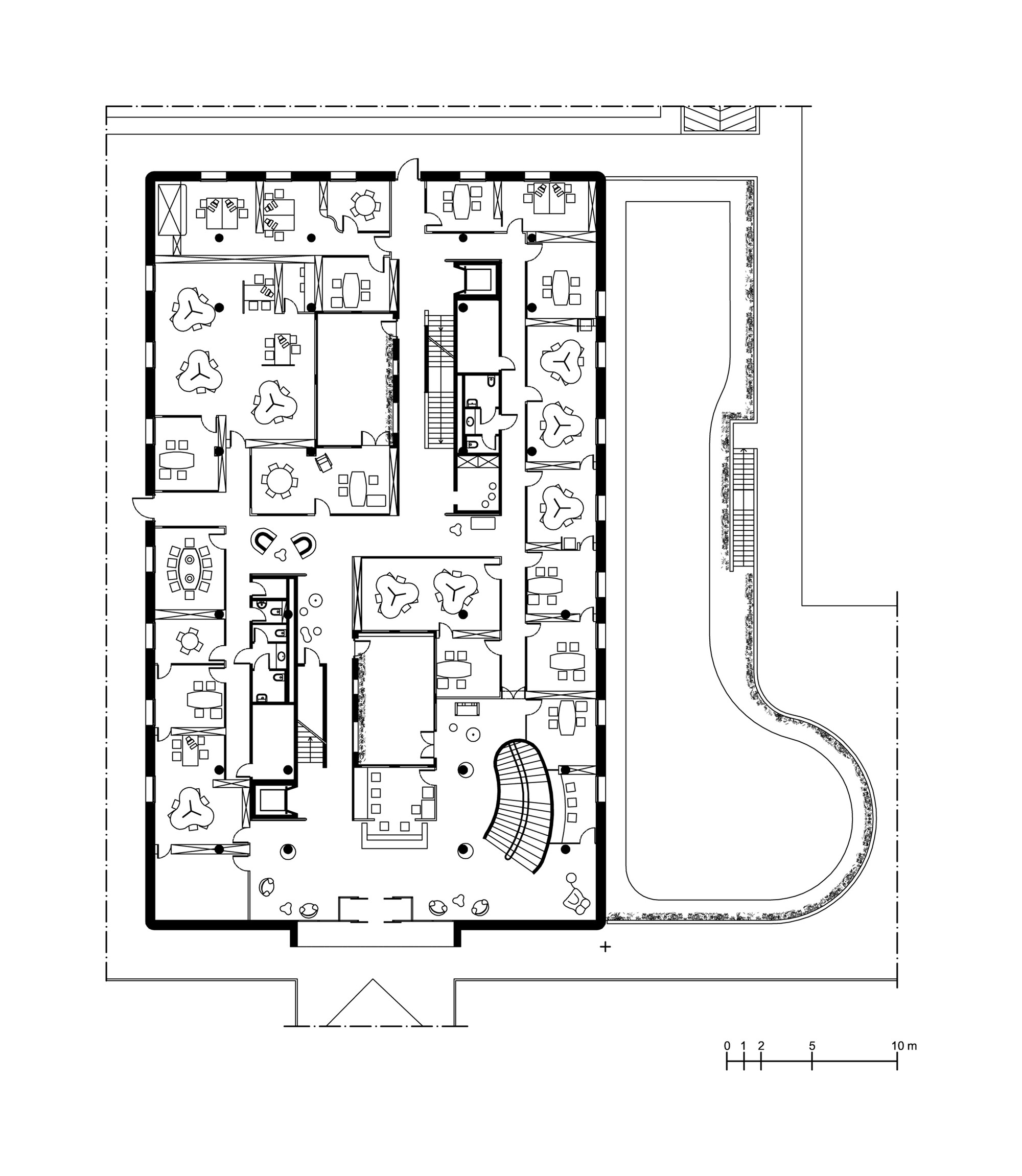 Bank of pisa and fornacette new hqground floor plan