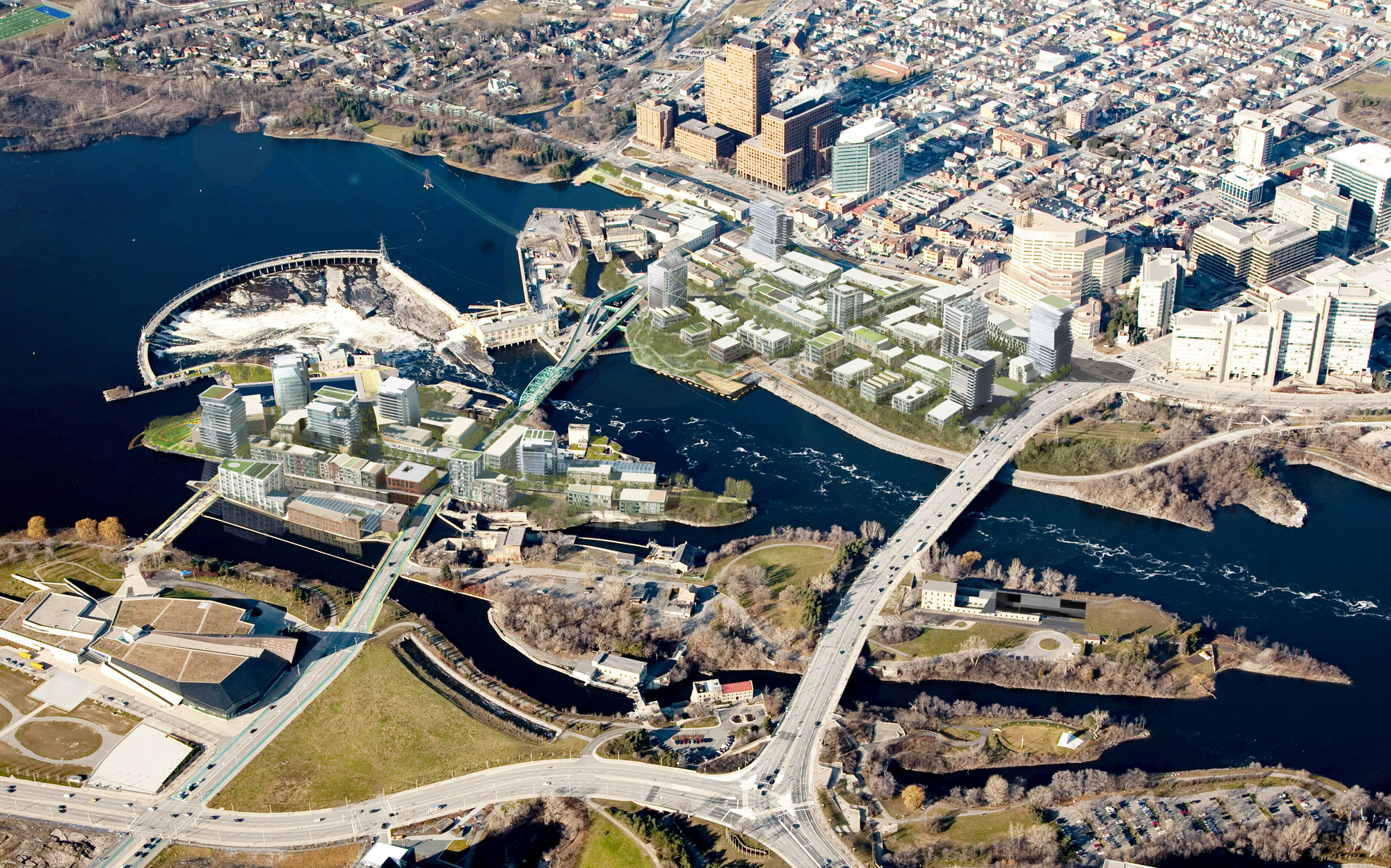 4 Ways Cold-Climate Cities Can Make The Most Of Their Waterfronts, Chaudière Island project in Ottawa. Image © Chris Foyd courtesy of Perkins+Will