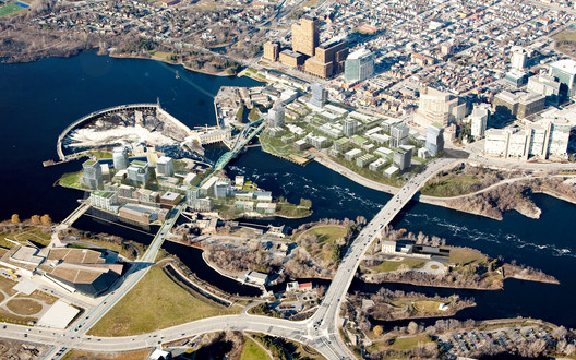 Chaudière Island project in Ottawa. Image © Chris Foyd courtesy of Perkins+Will