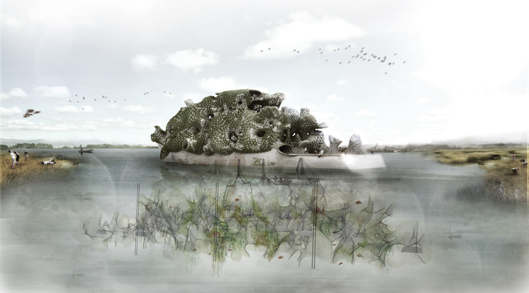 ISARCH anuncia proyectos ganadores de su quinta edición, Rethinking Biotope / Kyriaki Goti y Nikolaos Xenos. Imagen cortesía de IS ARCH