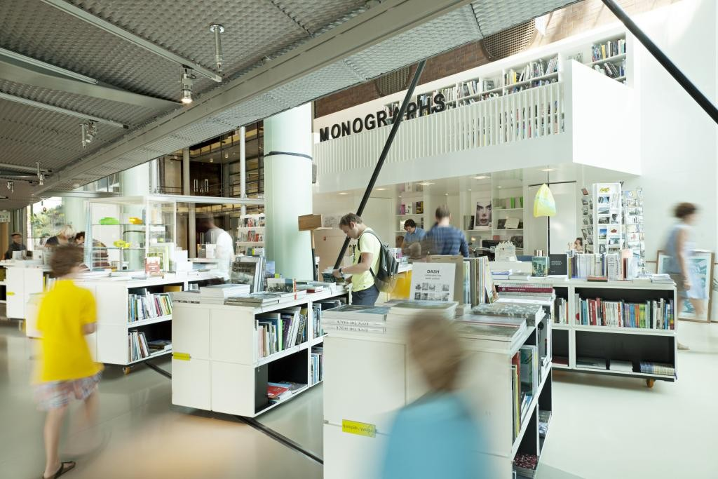 How Has The Monograph Become A Default In Architectural Publishing?, The bookshop of the Netherlands Architecture Institute, with a space dedicated to the architectural monograph. Image via Nieuwe Instituut