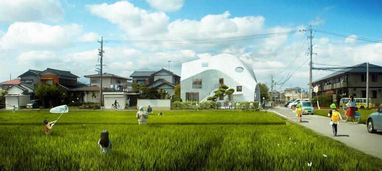 MAD transforma casa japonesa em jardim de infância e residência de professores, © MAD