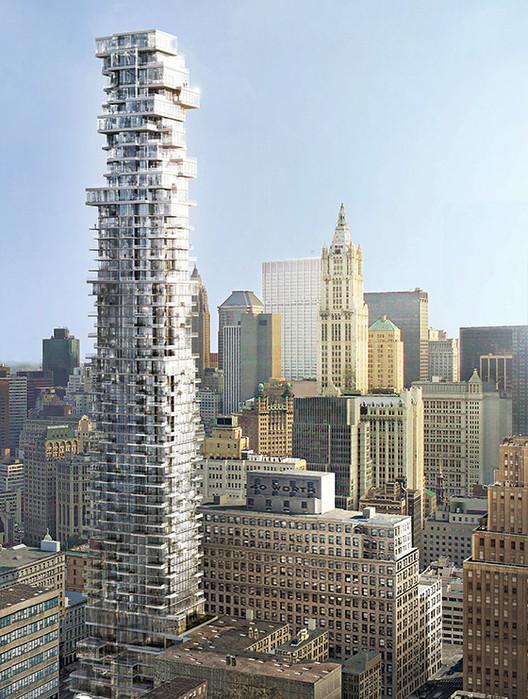Video: time-lapse del rascacielos 56 Leonard de Herzog & de Meuron en Nueva York, 56 Leonard. Imagen © Herzog & De Meuron