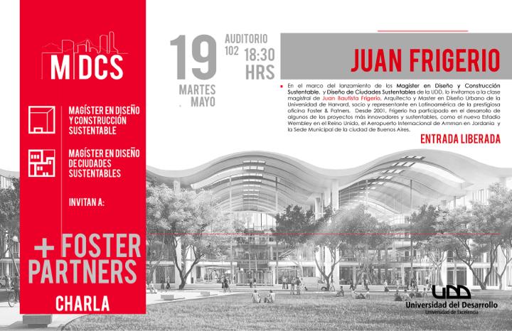 Clase Magistral de Juan Frigerio en UDD / Santiago