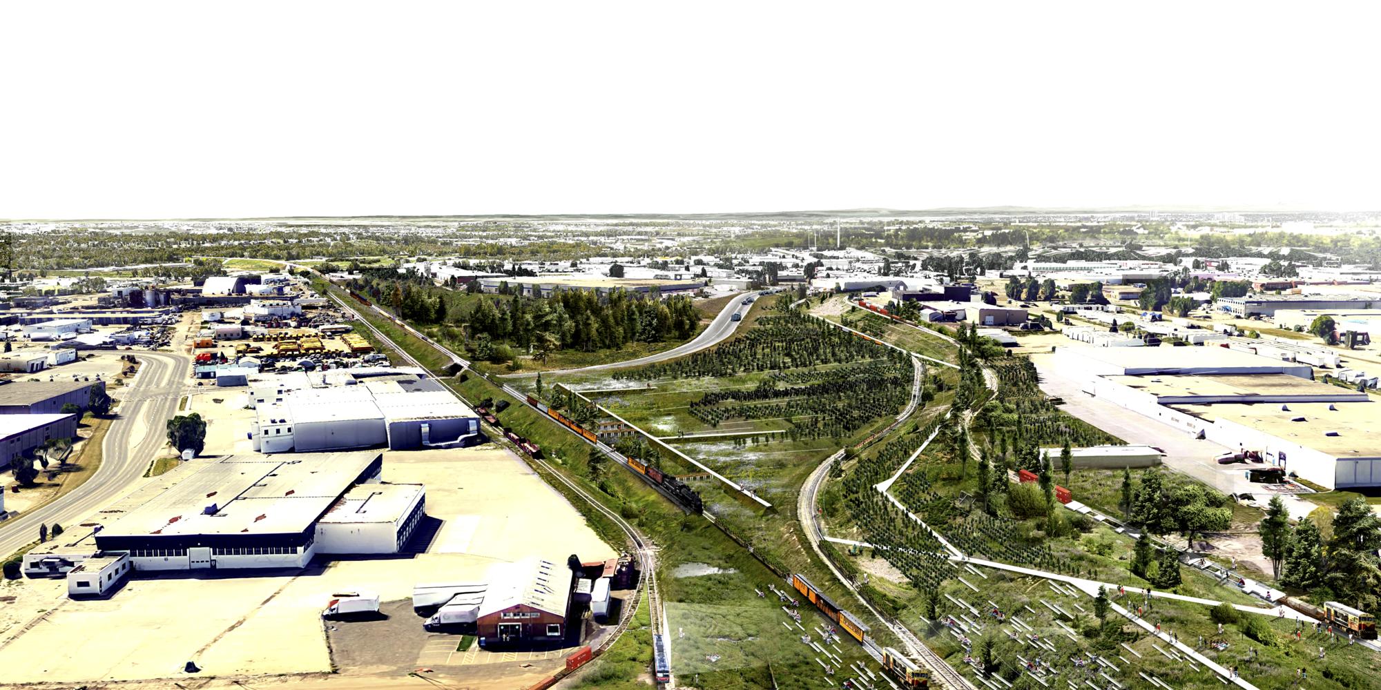 L-A-P Laboratorio de Arquitectura y Paisaje, primer lugar en concurso internacional 'Lost Spaces', Intervención general. Image Cortesia de L-A-P