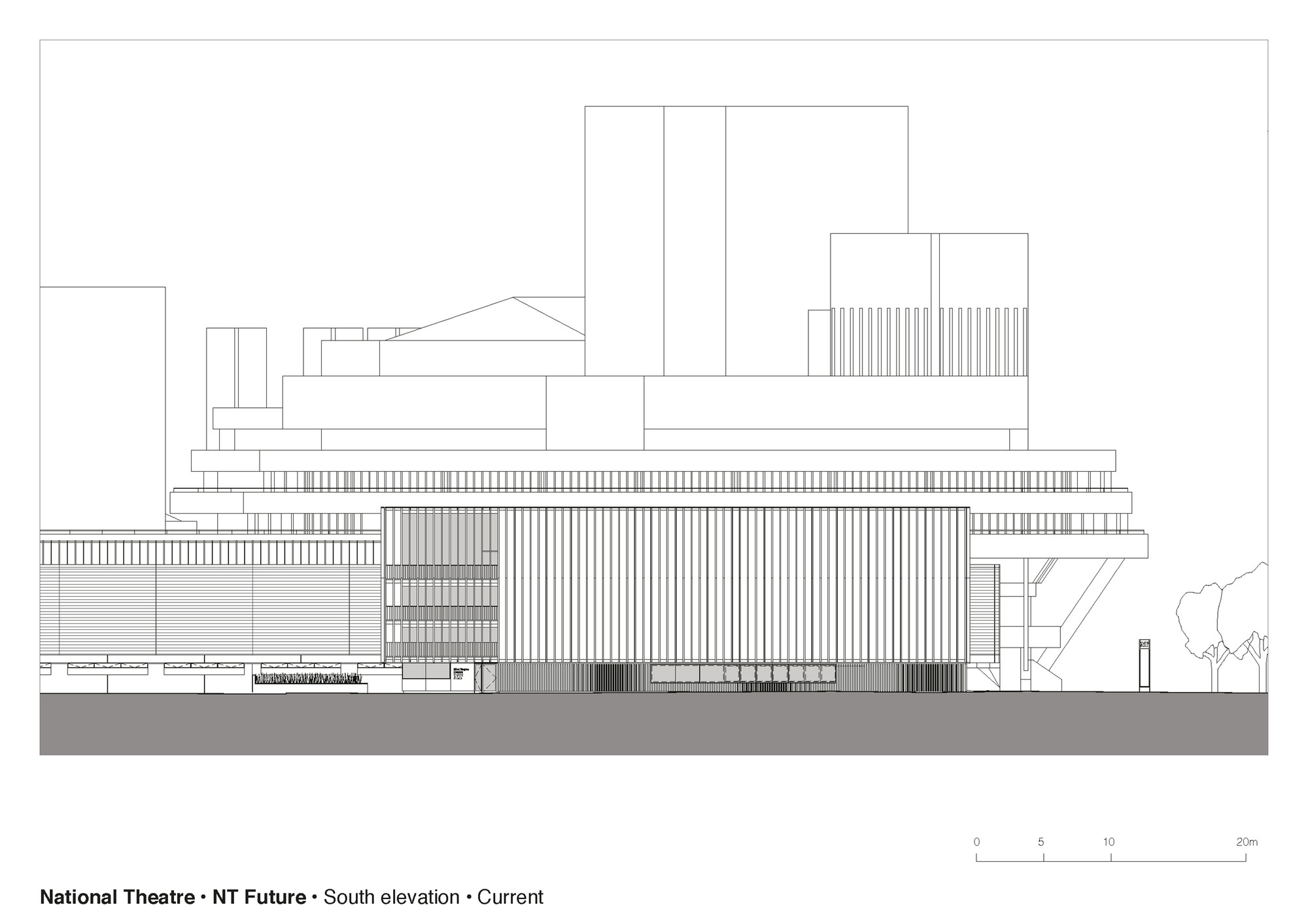 Gallery Of National Theatre Haworth Tompkins - Current elevation