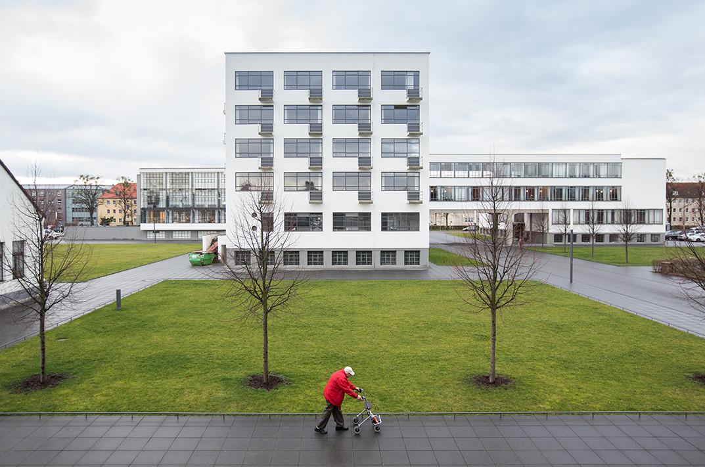A Bauhaus Façade Study by Laurian Ghinitoiu, © Laurian Ghinitoiu