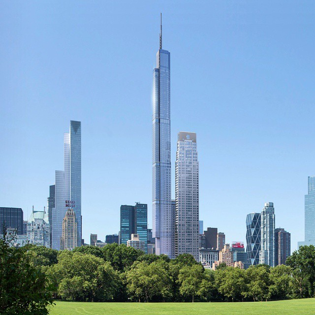 Official Image Released Of New York's 1775-Foot Nordstrom Tower, Official render released May 2015. Image © Extell via New York YIMBY