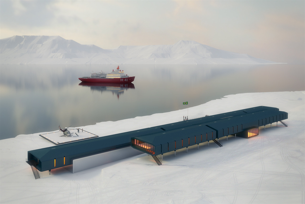 Marinha contrata empresa chinesa para construir estação brasileira na Antártica, Cortesia de Estúdio 41