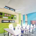 Classroom interior. Image Courtesy of Building Trust International