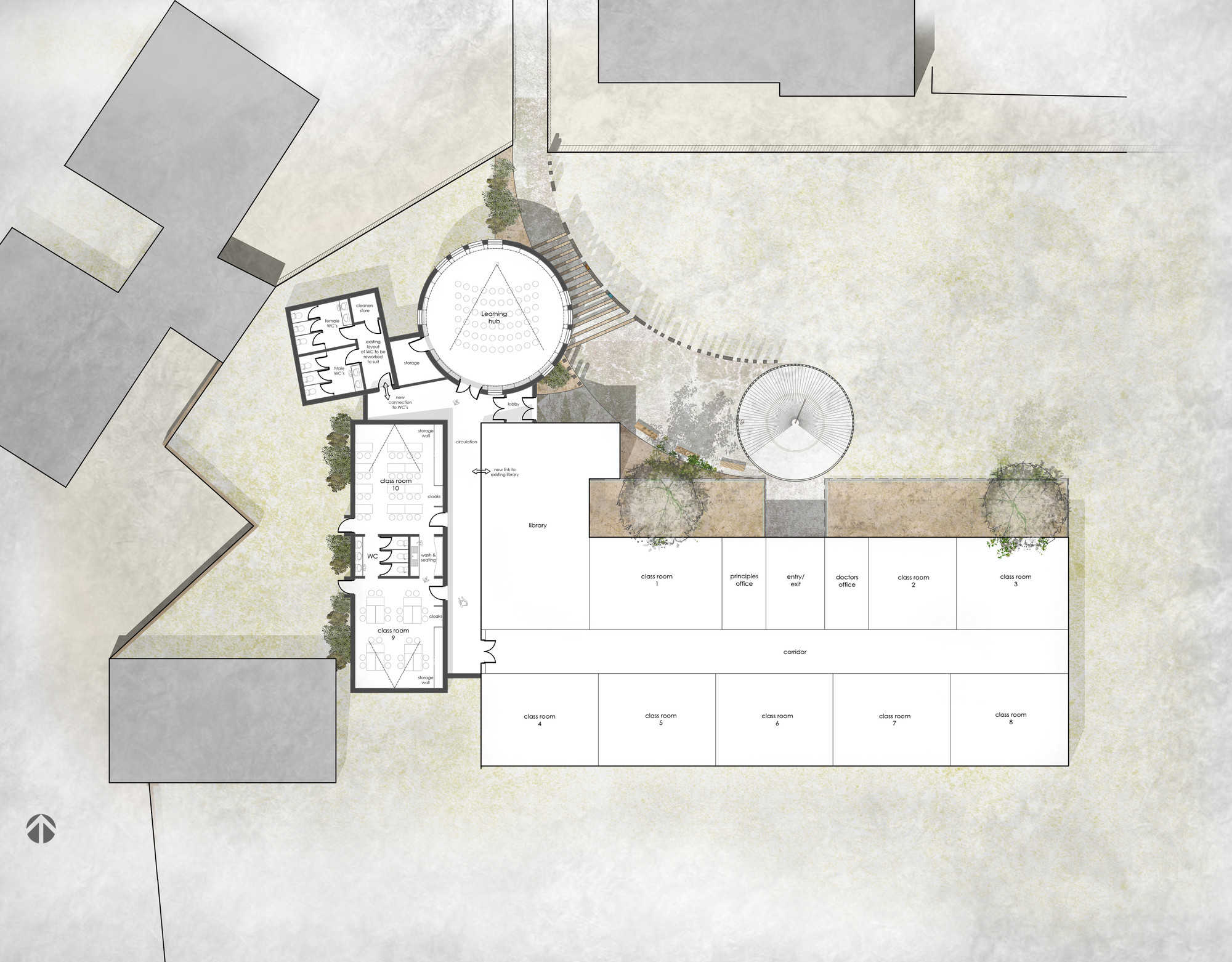 cool a floor plan. PLACE By Design Wins Cool School Competition  7 8 Floor plan Gallery of