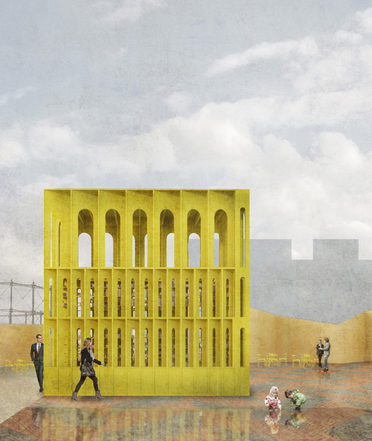 Hall McKnight To Open A Temporary Pavilion In London's King's Cross, © Hall McKnight
