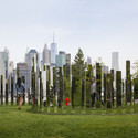 """Mirror Labyrinth NY"", Jeppe Hein (2015), High polished stainless steel, aluminum,106.5 x 346.5 x 338.5 inches"