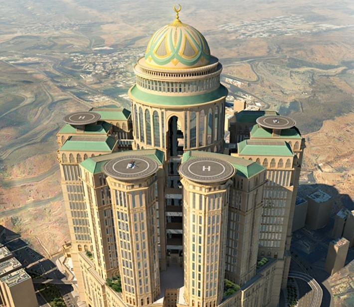 Mecca to Build the World's Largest Hotel, Abraj Kudai hotel . Image © Dar Al-Handasah via The Guardian
