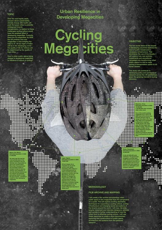 Charles Palmer's Cycling Megacities proposal. Image Courtesy of RIBA