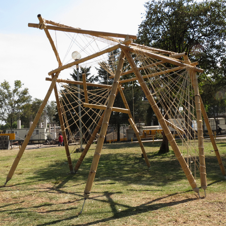 México DF: taller de construcción con bambú levanta 22 pabellones experimentales en la UNAM, Cortesia de Taller Carlos Leduc Montaño / UNAM