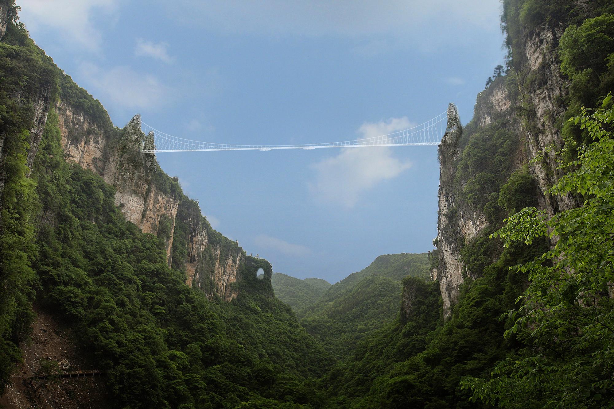 China Set to Open World's Longest and Highest Glass-Bottom Bridge, Courtesy of Haim Dotan Ltd. Architects and Urban Designers