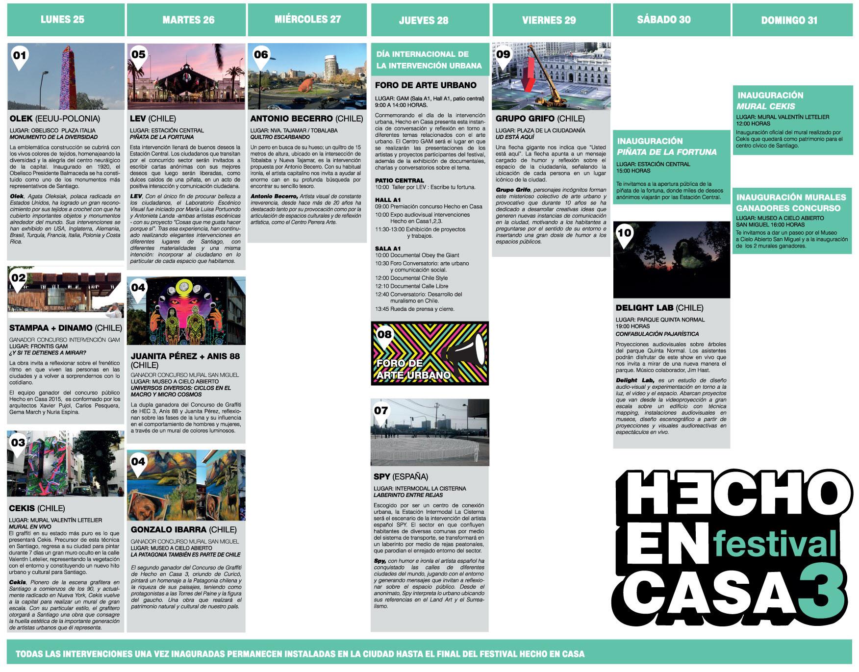 Galería de 10 intervenciones urbanas en Santiago en el marco del ...