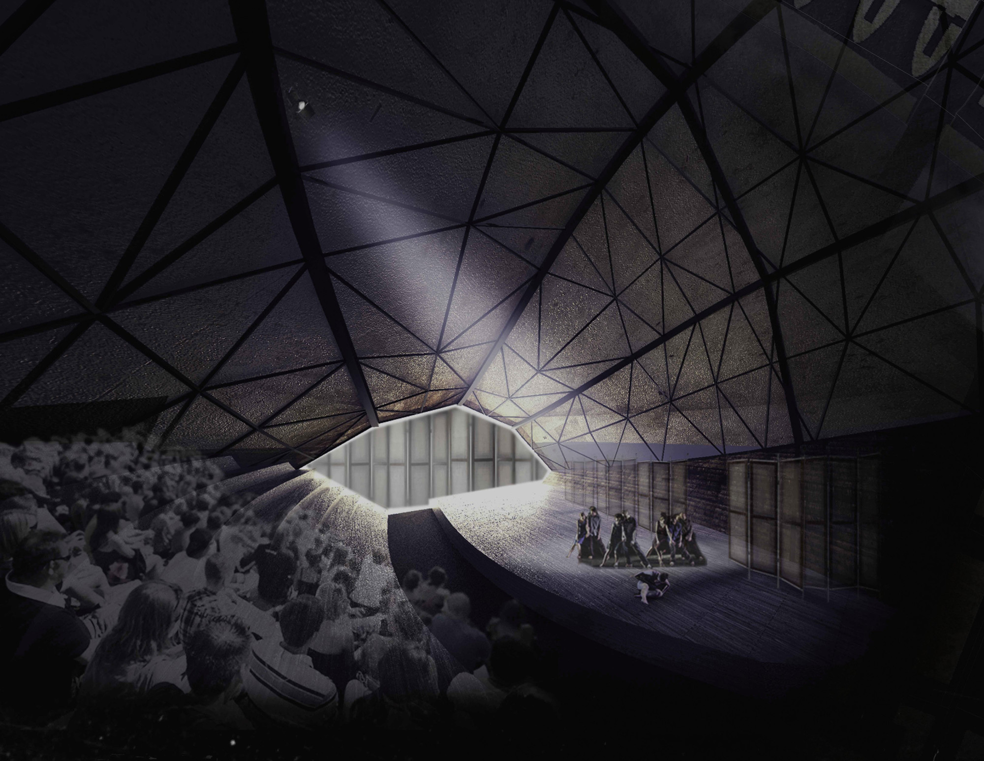 6 Winners Selected for OISTAT Competition to Design a Floating Theatre in Germany, Improvisational Theatre / Žilvinas Stasiulevičius. Image Courtesy of OISTAT