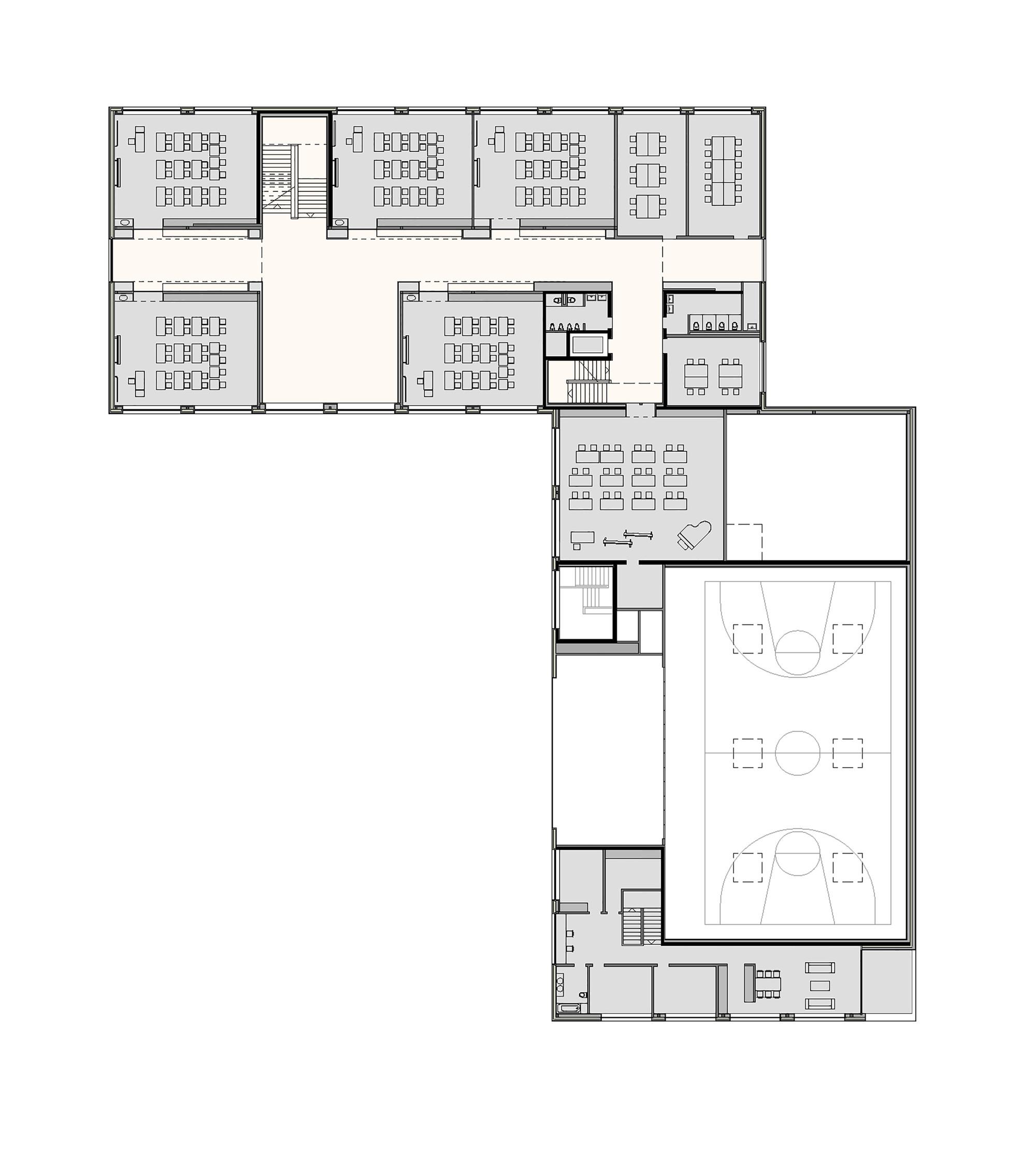 Galer a de sal n deportivo multiuso y escuela secundaria for Multi purpose building plans