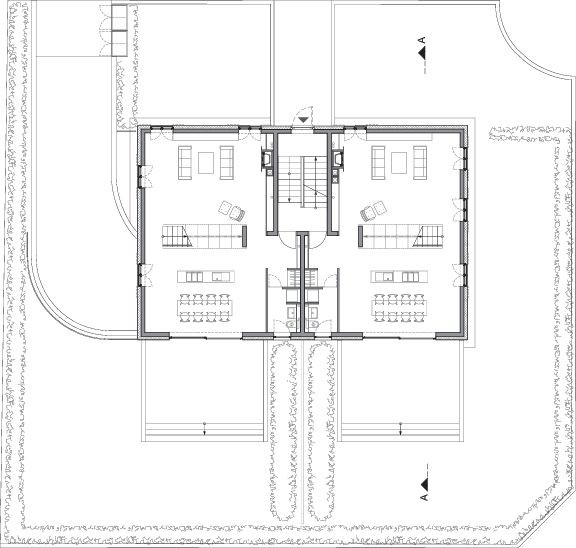 Gallery of residential building at heiligenstock christ for Residential building floor plan