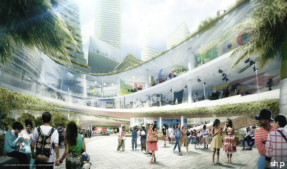 "SHoP and West 8 Propose New ""Innovation District"" for Miami, © SHoP Architects"