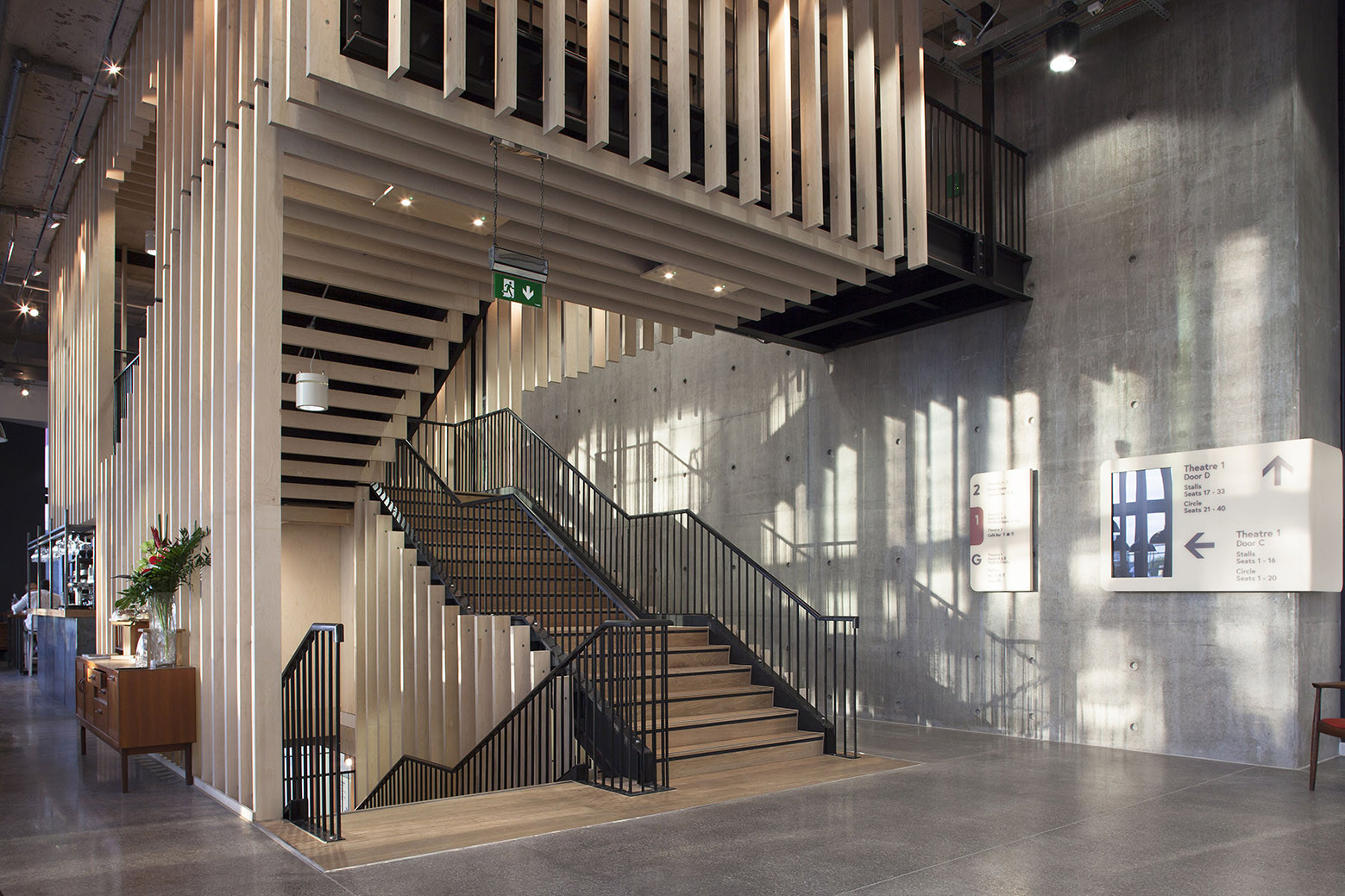 Foyer Social Architecture : Gallery of home arts center mecanoo concrete
