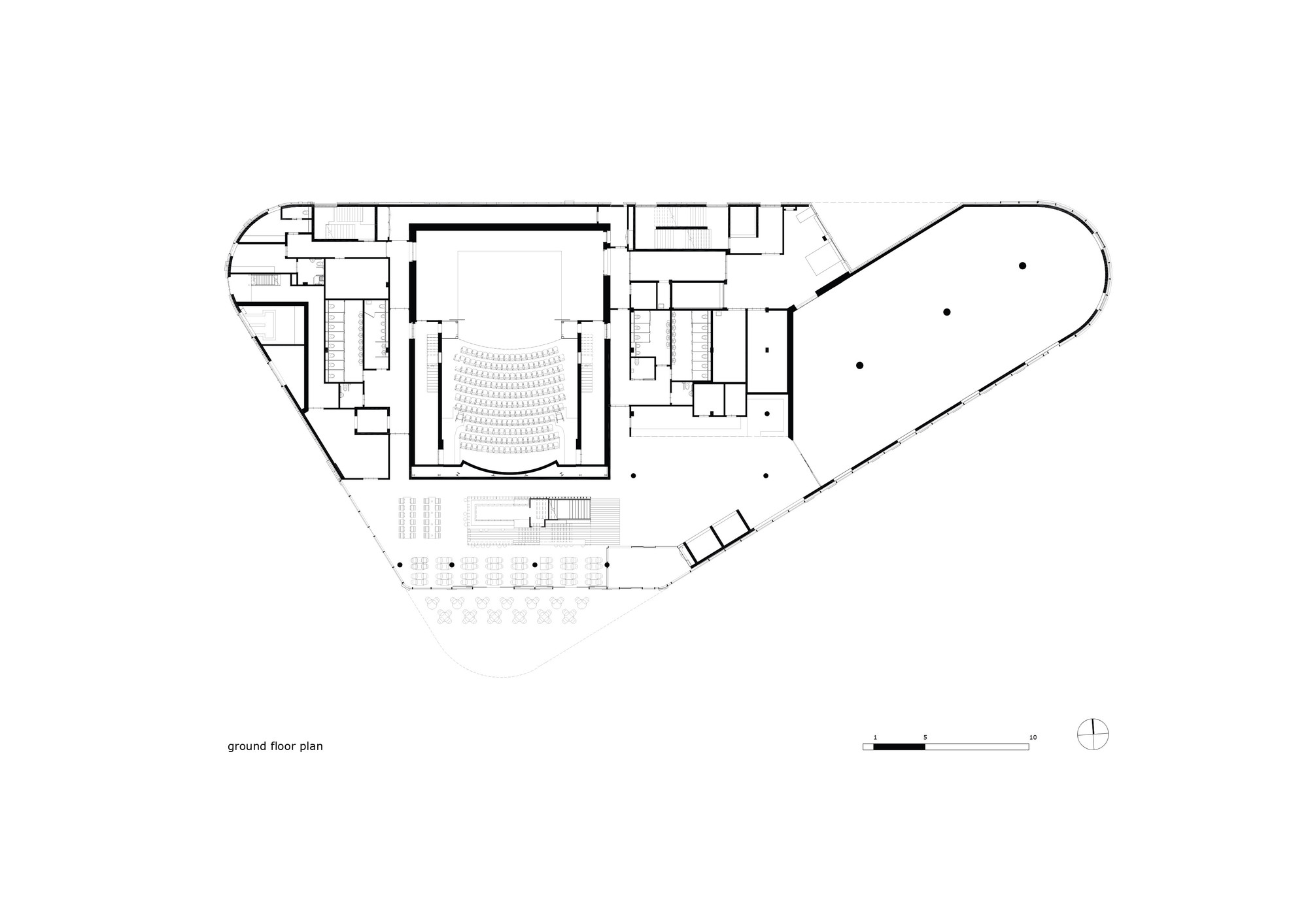 Gallery of home arts center mecanoo concrete 16 for Copying house plans