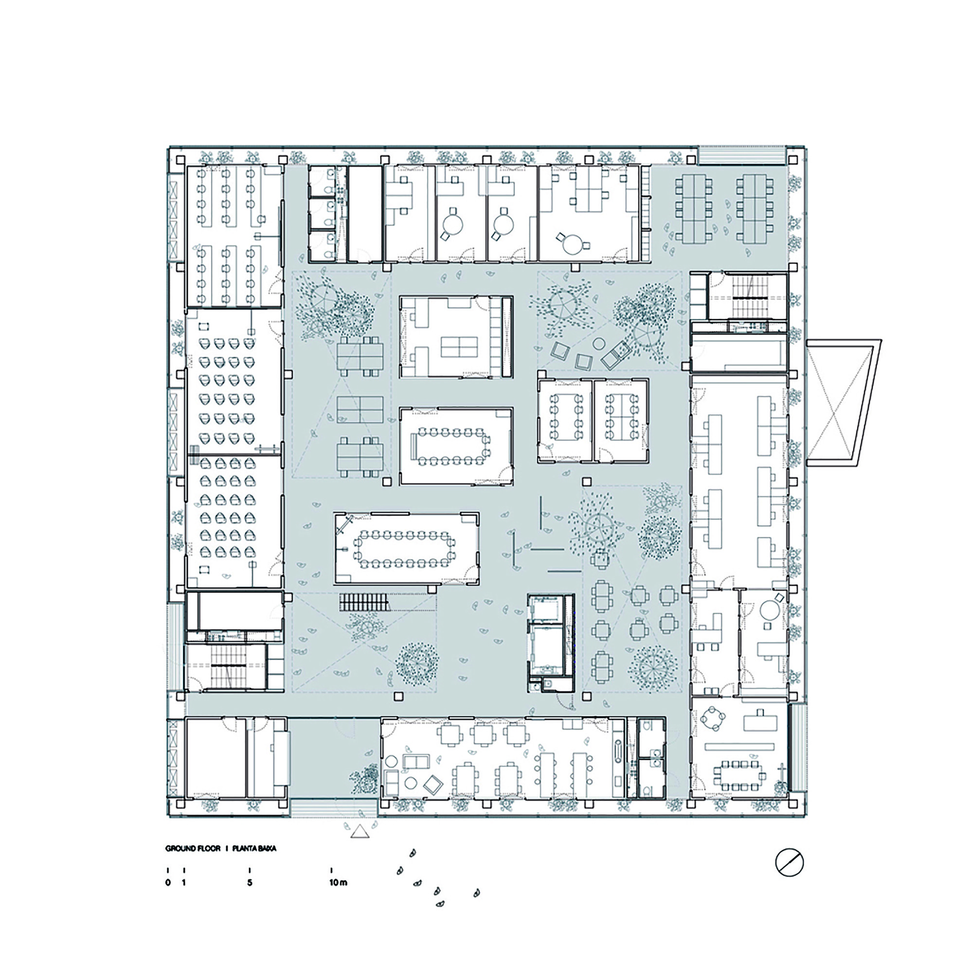 Cancer Center Floor Plan Gallery Of Research Center Icta Icp 183 Uab H Arquitectes