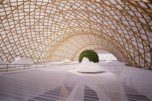 Japan Pavilion, Expo 2000. Image © Atelier Frei Otto Warmbronn