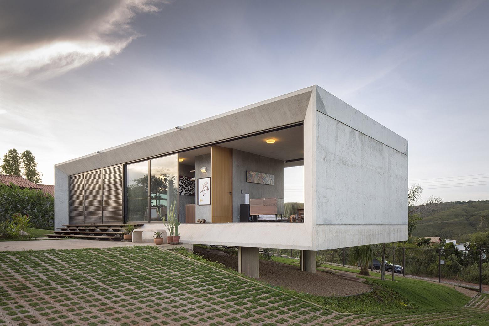 Galeria de casa solar da serra 3 4 arquitetura 7 for Viviendas estilo minimalista