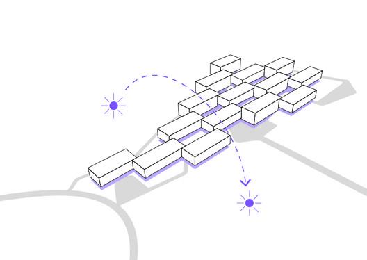 Esquema de orientação. Image Cortesia de Atelier Rua + Rede Arquitetos