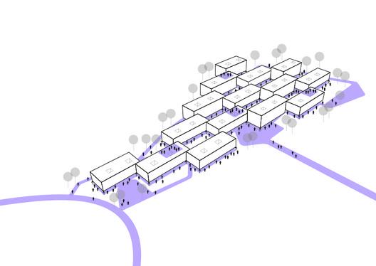 Esquema de espaços públicos. Image Cortesia de Atelier Rua + Rede Arquitetos