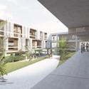 Vista do pátio. Image Cortesia de Atelier Rua + Rede Arquitetos