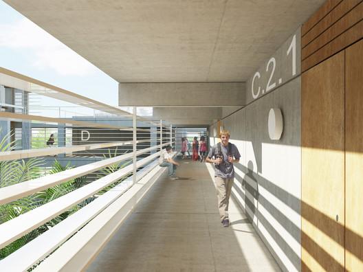 Vista da galeria. Image Cortesia de Atelier Rua + Rede Arquitetos