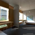 Vista do quarto. Image Cortesia de Atelier Rua + Rede Arquitetos