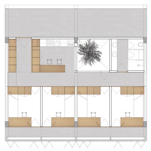 Planta do módulo. Image Cortesia de Atelier Rua + Rede Arquitetos